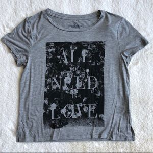 NWT AE All you need is love graphic tee